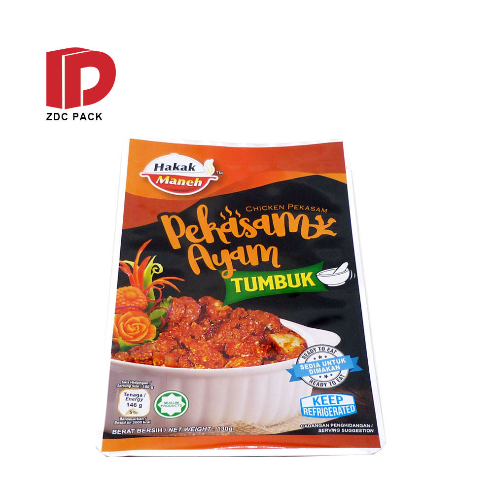 Eco friendly packaging bags food packaging bag chicken meat frozen packaging bag
