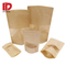 Heat sealed flat bottom paper Kraft bags for food