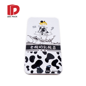 Factory wholesale customized shaped plastic pouch with hole tear notch