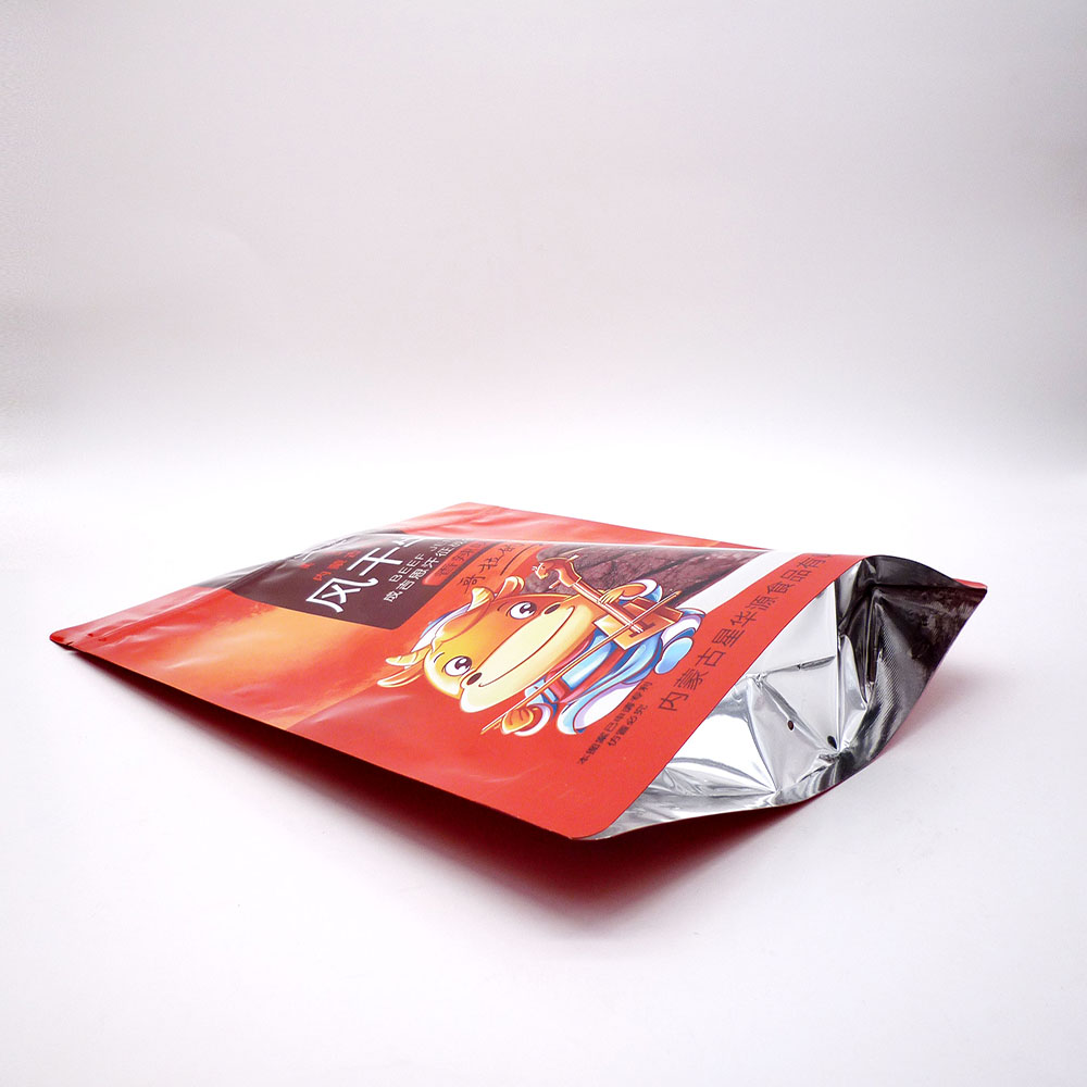 Food packaging bags stand up pouch with clear oval window